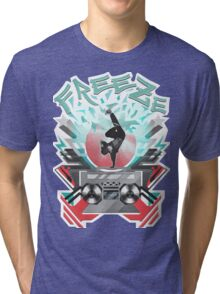 FREEZE (White) Tri-blend T-Shirt