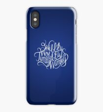 Wibbly Wobbly White iPhone Case/Skin
