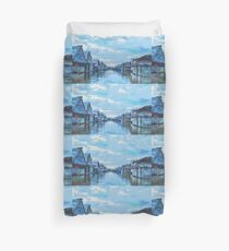 Houses and canal Duvet Cover