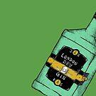 Eric & Gordon Gin Bottle (Colour)  by Jake Smithies