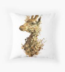 Morning Giraffe  Throw Pillow