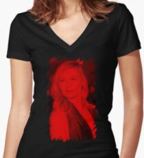 Kirsten Dunst - Celebrity Women's Fitted V-Neck T-Shirt