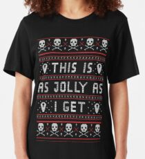 Emo Gothic Ugly Christmas Sweater Slim Fit T-Shirt
