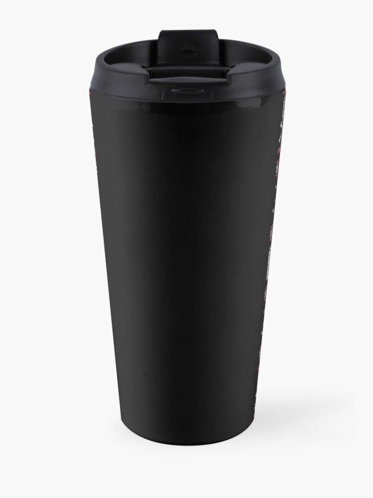Alternate view of Emo Gothic Ugly Christmas Sweater Travel Mug