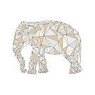 Geometrisches Polygon des Elefanten von Viktoriia