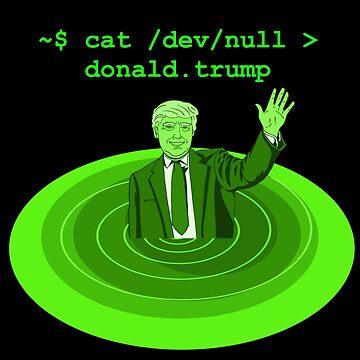 cat /dev/null Donald Trump by boscorat