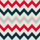 Chevron-Muster. Muster mit Zickzack von Viktoriia
