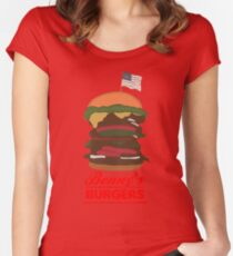 Benny's Burger Women's Fitted Scoop T-Shirt