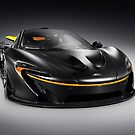 Black McLaren P1 plug-in hybrid supercar sports car art photo print by ArtNudePhotos