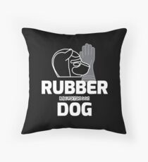 Nerdy Doggo Rubber Dog Throw Pillow