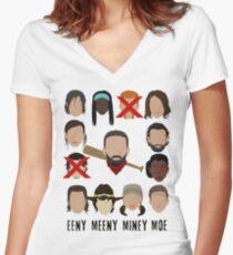 Negan - Eeny Many Moe Women's Fitted V-Neck T-Shirt