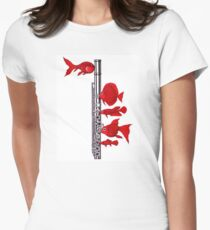 Fish and Flute Womens Fitted T-Shirt