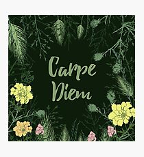 Carpe Diem. Enjoy the little things. Quote. Photographic Print