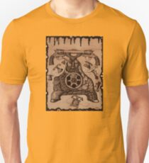 Communication ink pen drawing on wood T-Shirt