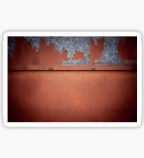 Rusty old metal wall abstract Sticker