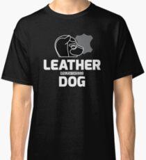 Nerdy Doggo Leather Dog Classic T-Shirt