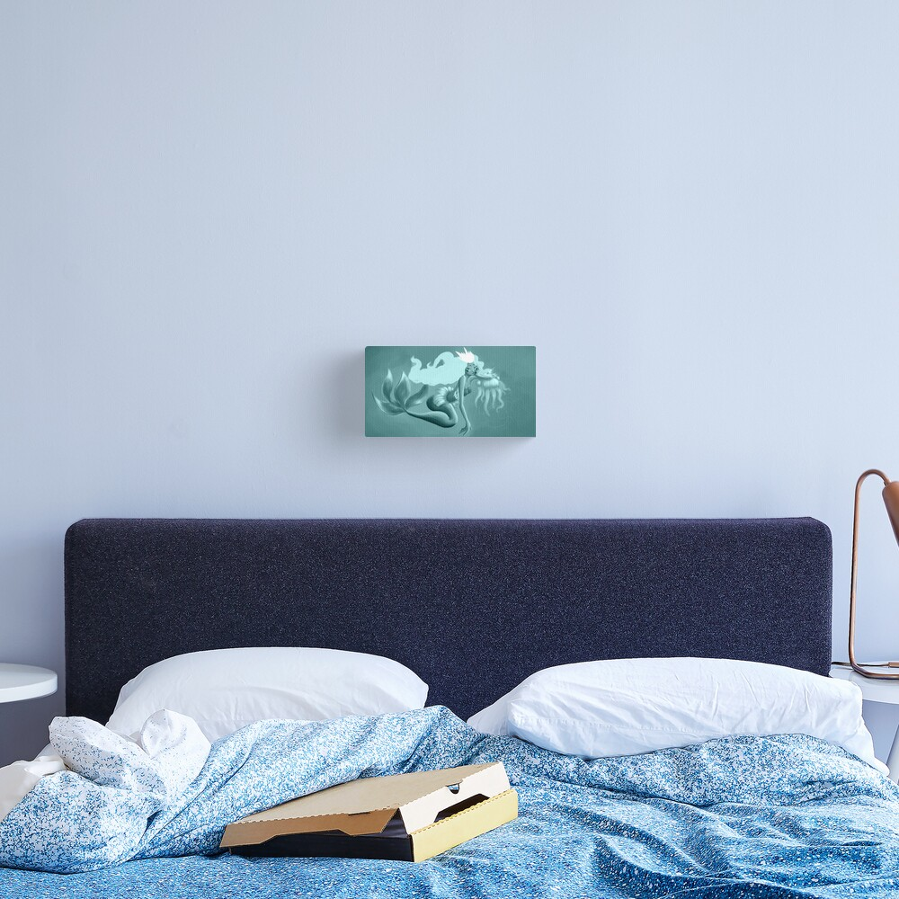 Impression sur toile «Blue Mermaid»