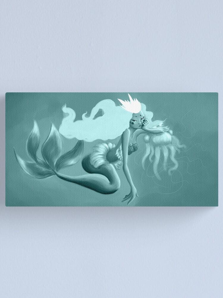 Impression sur toile ''Blue Mermaid': autre vue