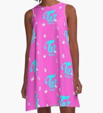 Twice Cheer Up logo pink A-Line Dress