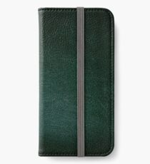 Dark green leather texture abstract  iPhone Wallet/Case/Skin