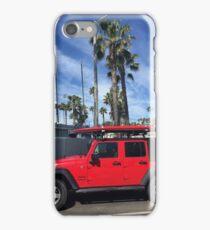 Red Jeep in Santa Barbara iPhone Case/Skin