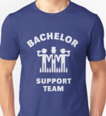 Bachelor Support Team (Stag Party / White) Slim Fit T-Shirt
