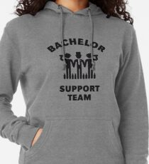 Bachelor Support Team (Stag Party / Black) Lightweight Hoodie