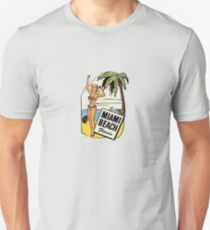 Miami Beach Florida Vintage Bikini Travel Decal T-Shirt