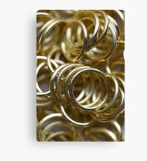 Golden Rings Canvas Print