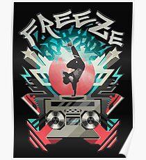 FREEZE (Black) Poster