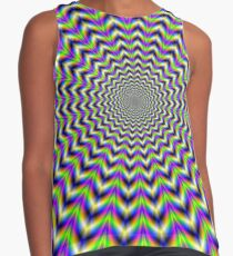 Psychedelic Star in Yellow Pink Blue and Green Contrast Tank