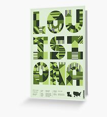 Typographic Louisiana State Poster Greeting Card