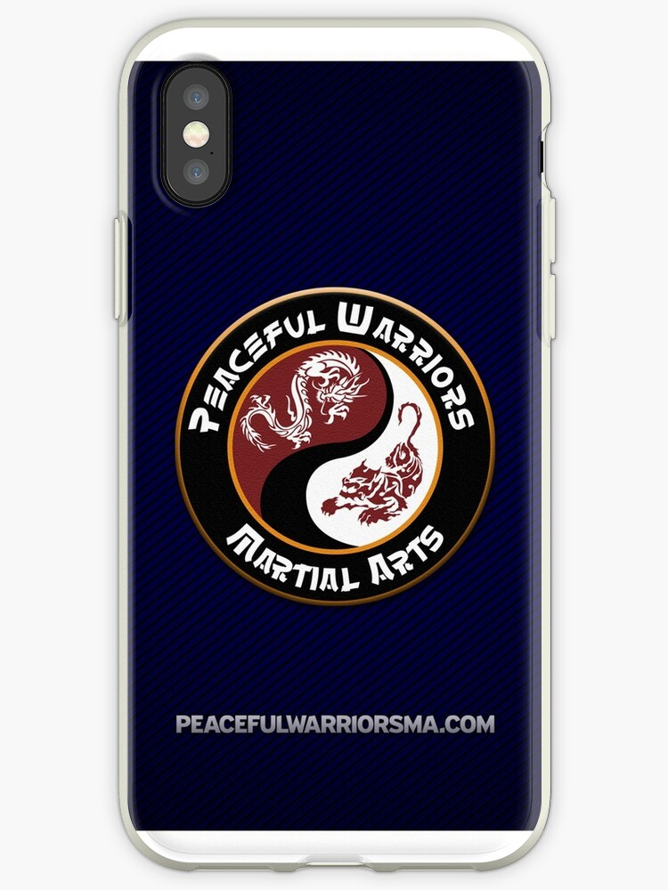Peaceful Warriors Logo Blue Stripes by Theshihan