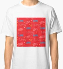 LOVE and Romantic concept  pattern Classic T-Shirt