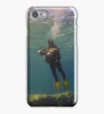 An Underwater Photographer Hovers iPhone Case/Skin