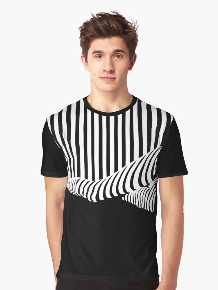 BLACK&WHITE Graphic T-Shirt Front