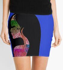 Illustrated woman Mini Skirt
