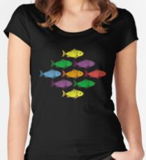 Rainbow Fishes Women's Fitted Scoop T-Shirt