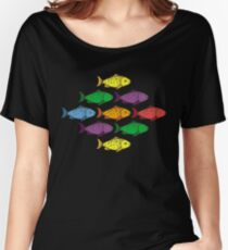 Rainbow Fishes Women's Relaxed Fit T-Shirt
