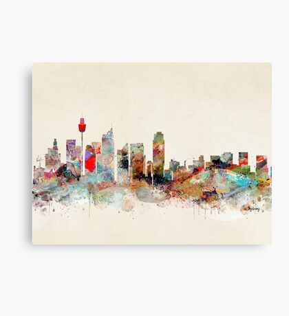 sydney city skyline Canvas Print