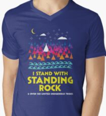 Stand With Standing Rock Shirt Men's V-Neck T-Shirt