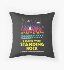 Stand With Standing Rock Shirt Throw Pillow