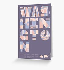 Typographic Washington State Poster Greeting Card