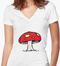 Toadstool Women's Fitted V-Neck T-Shirt