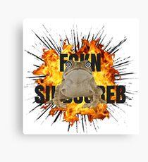 PEWDIEPIE SLIPPY FCKN SBSCRB Canvas Print