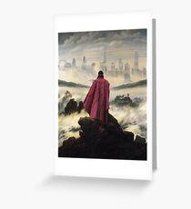 Doctor Strange above the sea of fog Greeting Card