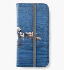 Schwan Familie iPhone Flip-Case/Hülle/Klebefolie