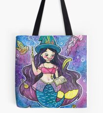 Witchy Mermaid Tote Bag