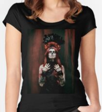 BOOK 6 - Day of the Dead/Bones Women's Fitted Scoop T-Shirt