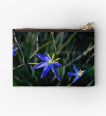 Tufted Blue Lily Studio Pouch